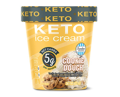 Sundae Shoppe Cookie Dough Keto Ice Cream