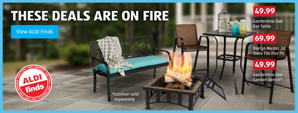 These deals are on fire. Save on outdoor patio furniture. View ALDI Finds.