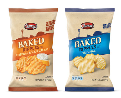 Clancy's Original or Cheddar & Sour Cream Rippled Baked Potato Crisps View 1