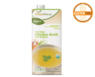Organic Low Sodium Free Range Chicken Broth