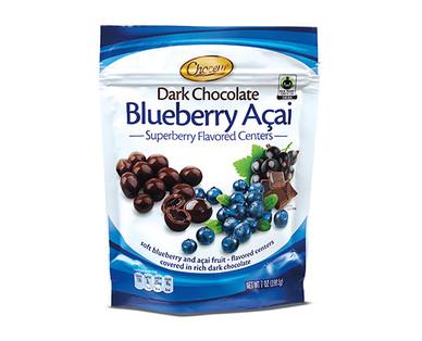 Choceur Dark Chocolate Blueberry Acai Superberry Flavored Centers