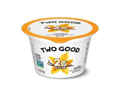 Dannon Two Good Vanilla or Strawberry Lowfat Greek Yogurt View 1