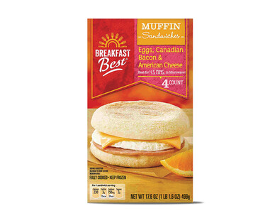Breakfast Best Canadian Bacon Egg Cheese Muffin