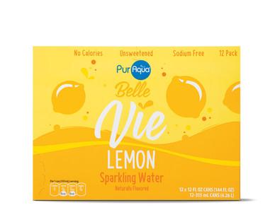PurAqua Belle Vie Sparkling Flavored Water, Lemon