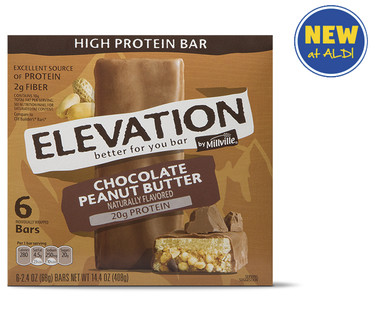 Elevation by Millville Chocolate Peanut Butter High Protein Bars