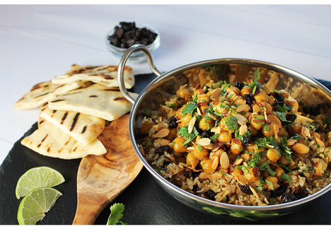 Chickpea Korma with Spiced Rice