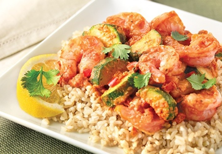 Spicy Sauteed Shrimp with Rice