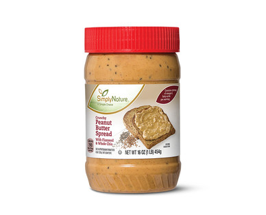 SimplyNature Crunchy Peanut Butter with Chia and Flax