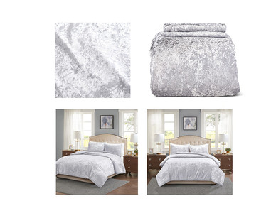 Huntington Home Crushed Velvet Comforter Set View 5