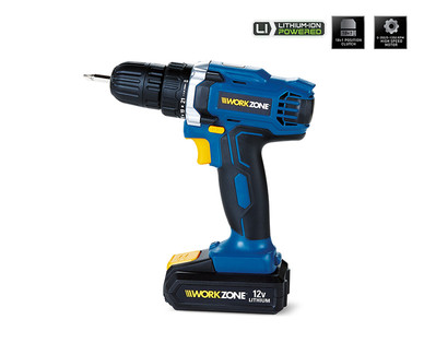 WORKZONE 12V Lithium-Ion Cordless Drill View 3
