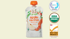 Little Journey Apple Carrot Baby Food Puree