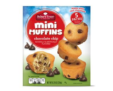 Baker's Treat Mini Muffins Chocolate Chip