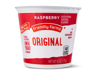 Friendly Farms Lowfat Raspberry Yogurt