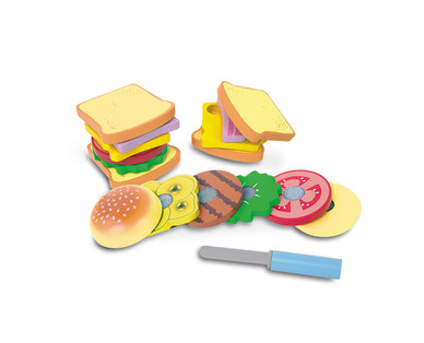 Wooden Play Food Set View 1