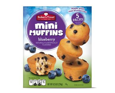 Baker's Treat Mini Muffins Blueberry