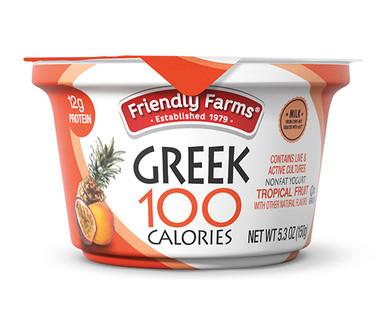 Friendly Farms Nonfat Blended Tropical Fruit Greek Yogurt
