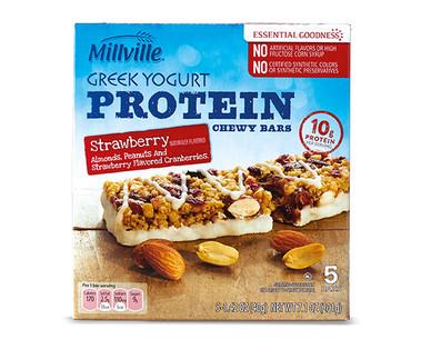 Millville Strawberry Greek Yogurt Bars