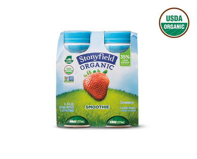 Stonyfield Organic Strawberry or Wildberry Yogurt Smoothies View 1