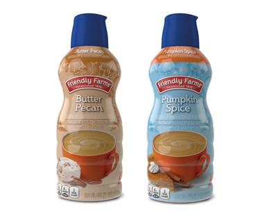 Friendly Farms Pumpkin Spice or Butter Pecan Coffee Creamer
