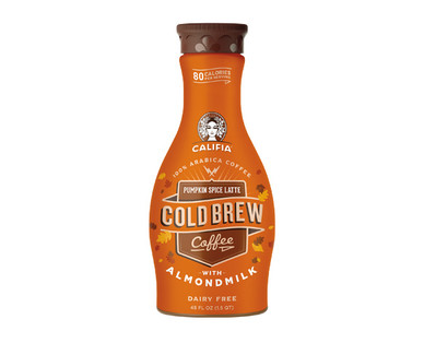 Califia Farms Holiday Flavored Cold Brew Coffee with Almondmilk
