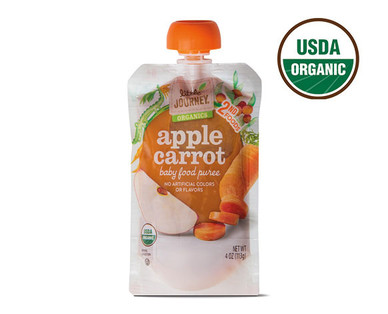 Little Journey Apple Carrot Baby Food Puree