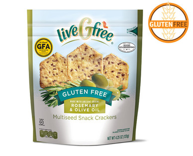 liveGfree Gluten Free Rosemary & Olive Oil Multi Seed Crackers