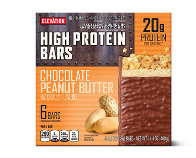 Elevation Chocolate Peanut Butter High Protein Bars