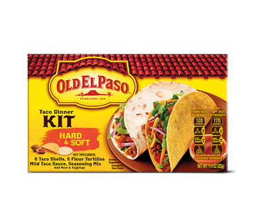 Old El Paso Hard & Soft or Stand N Stuff Taco Dinner Kits View 1