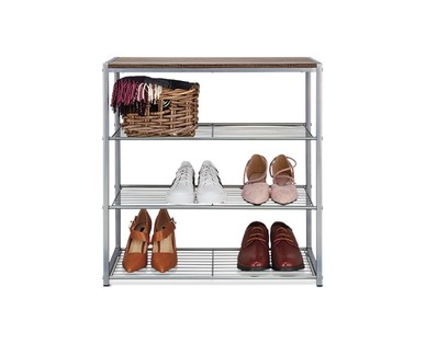 Huntington Home 4-Tier Stackable Shoe Rack View 2