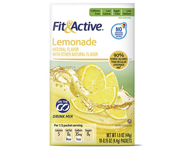 Fit and Active Lemonade Drink Mix Sticks