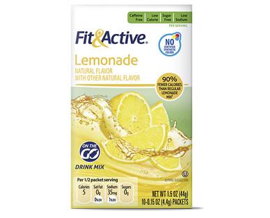 Fit and Active Lemonade Drink Mix Sticks