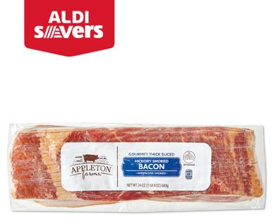ALDI Savers Appleton Farms Hickory Smoked Thick-Sliced Bacon