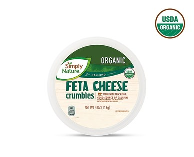 Simply Nature Organic Feta, Blue or Shredded Parmesan Cheese View 1