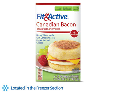 Fit and Active Canadian Bacon Breakfast Sandwiches