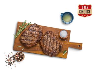 Fresh USDA Choice Twin Pack Boneless Beef Ribeye Steaks