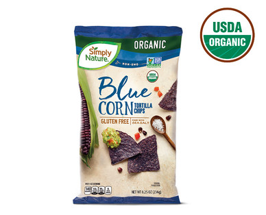 Simply Nature Blue Corn Tortilla Chips