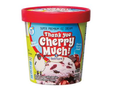 Belmont Super Premium Thank You Cherry Much Ice Cream Pint