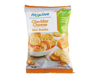 Fit & Active Cheddar Cheese Rice Snacks