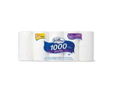 Willow 20 Roll 1000ct Bath Tissue View 1