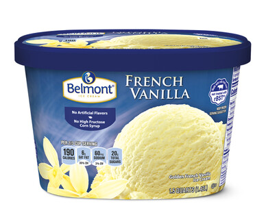 Belmont French Vanilla Winter Seasonal Ice Cream