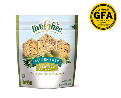 Gluten Free Rosemary and Olive Oil Multiseed Crackers