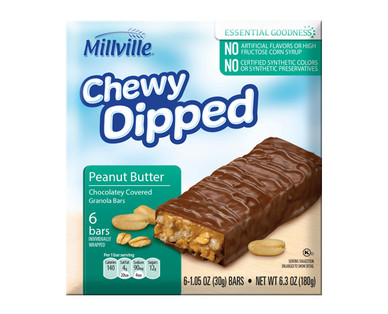 Millville Chewy Dipped Granola Bars Assorted Varieties