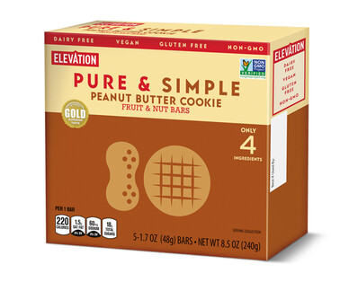 Elevation Peanut Butter Cookie Pure & Simple Bars