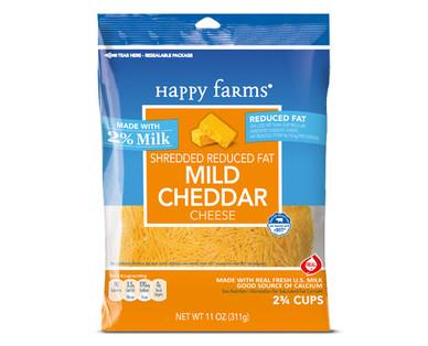 Happy Farms Mild Cheddar Shredded Cheese