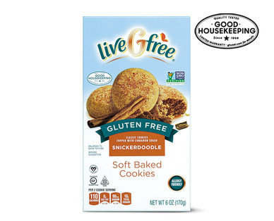 liveGfree Gluten Free Snickerdoodle Soft Baked Cookies