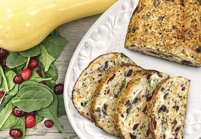 Butternut Squash and Cranberry Chicken Meatloaf