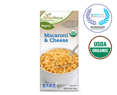 SimplyNature Organic Macaroni and Cheese