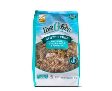 liveGfree Organic Gluten Free Brown Rice & Quinoa Fusilli