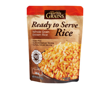 Earthly Grains Ready to Serve Whole Grain Brown Rice