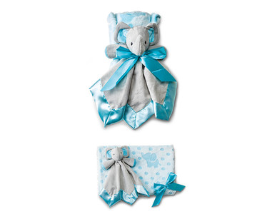 Little Journey 2-Piece Plush Baby Blanket and Cuddle Buddy View 5